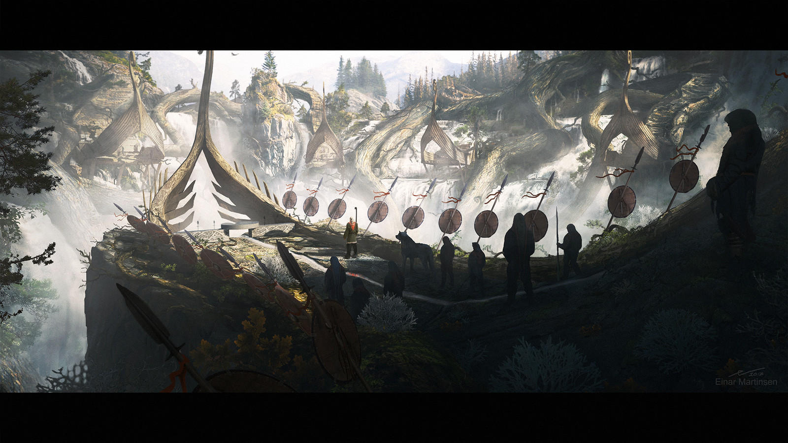 Production design course with Dylan Cole - Artwork by Einar Martinsen - Sacred place, shot 02
