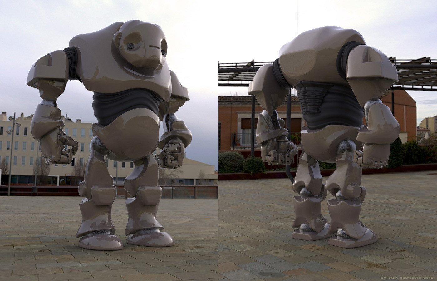 'Warrior-Robot' rendertests.