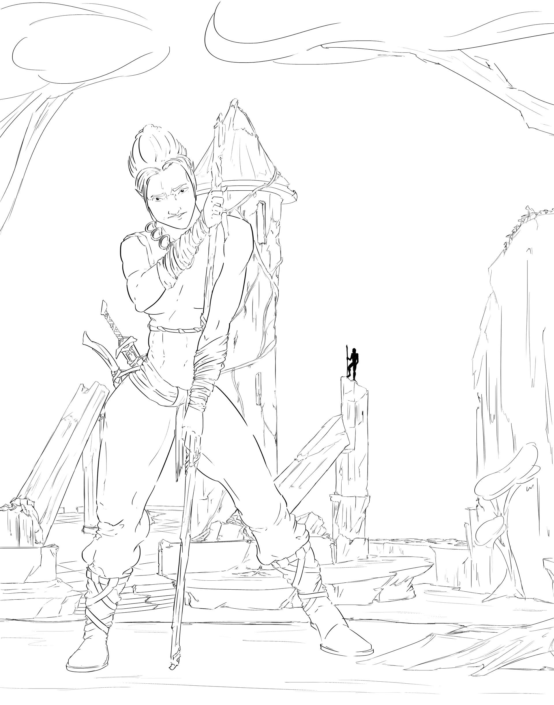 Full Line Drawing