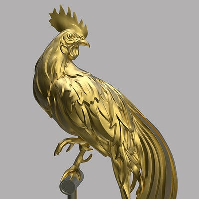Leon teoh rooster gold 0