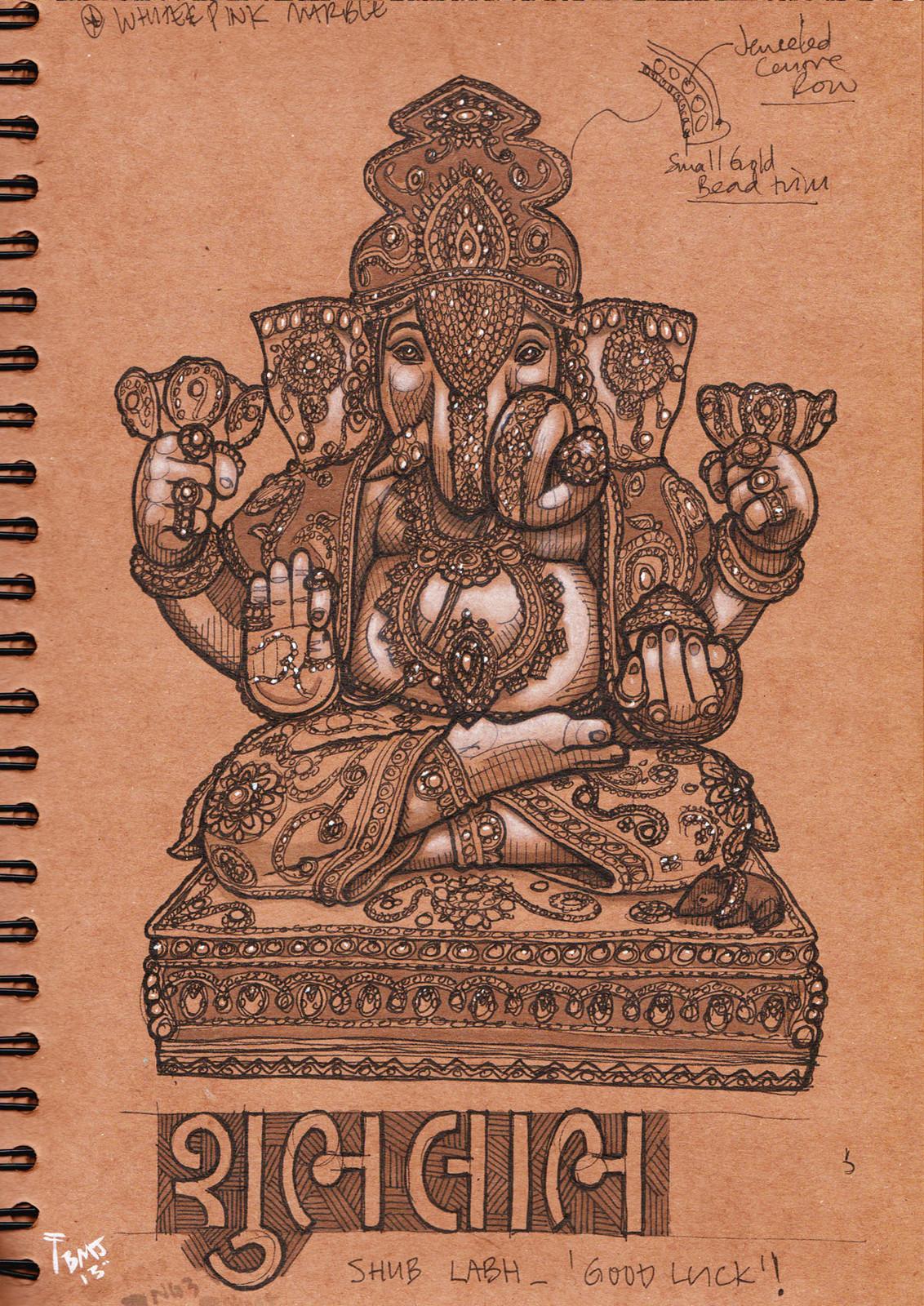 Lord Ganesha statue study