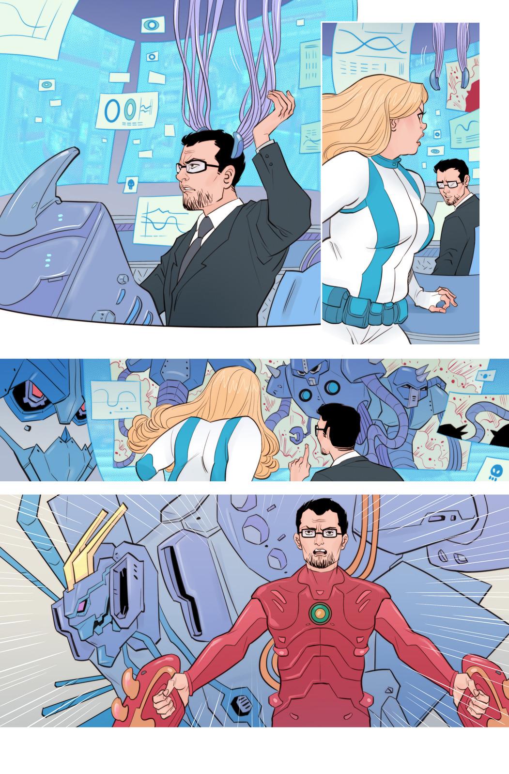 Faith #9 page - Faith's workmate geeky fantasy