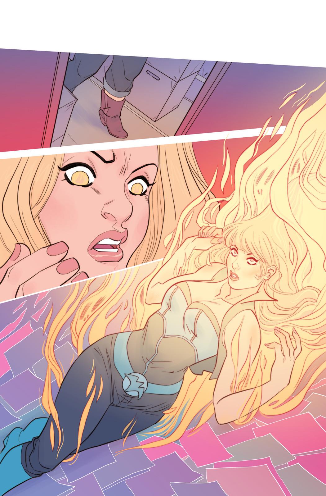 Faith #7 page - Faith's comic books shop nightmare 2