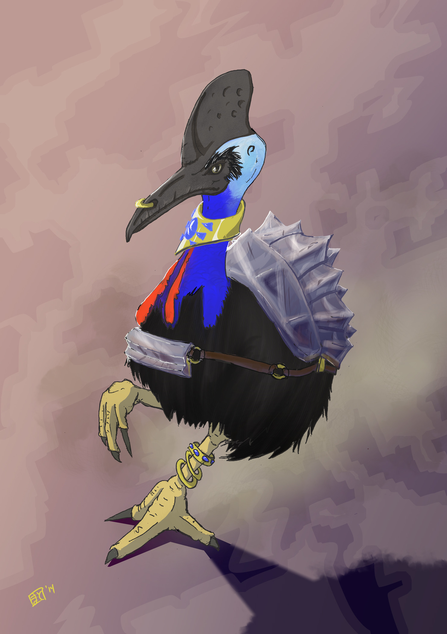 Matt christopherson matthew christopherson cassowary warrior
