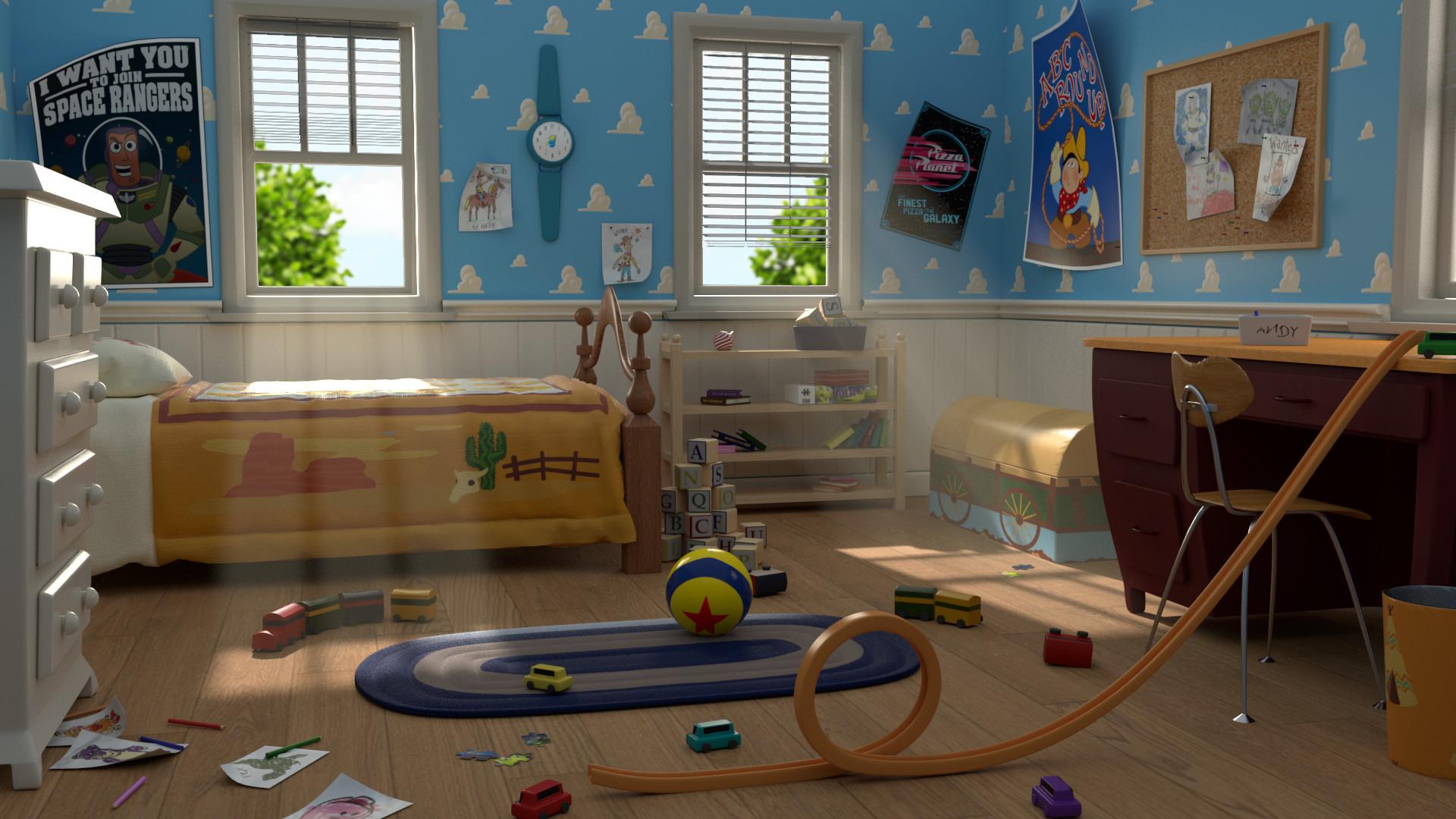 Artstation Andys Room Toy Story Ann Sophie Dhollander
