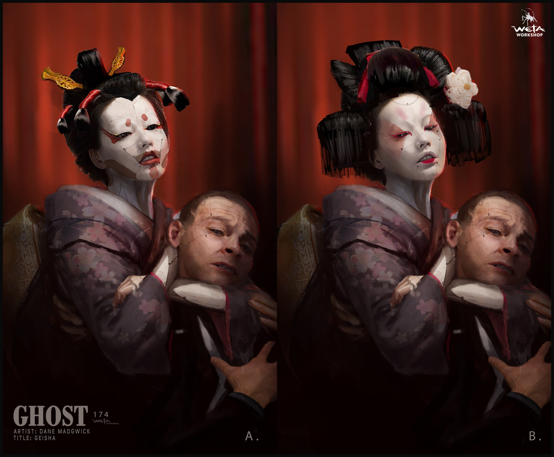 Weta workshop design studio 0174 gits geisha dm ks note left image only