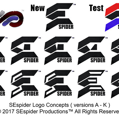 Richard t white jr sespider logo concepts 2017 a k samples