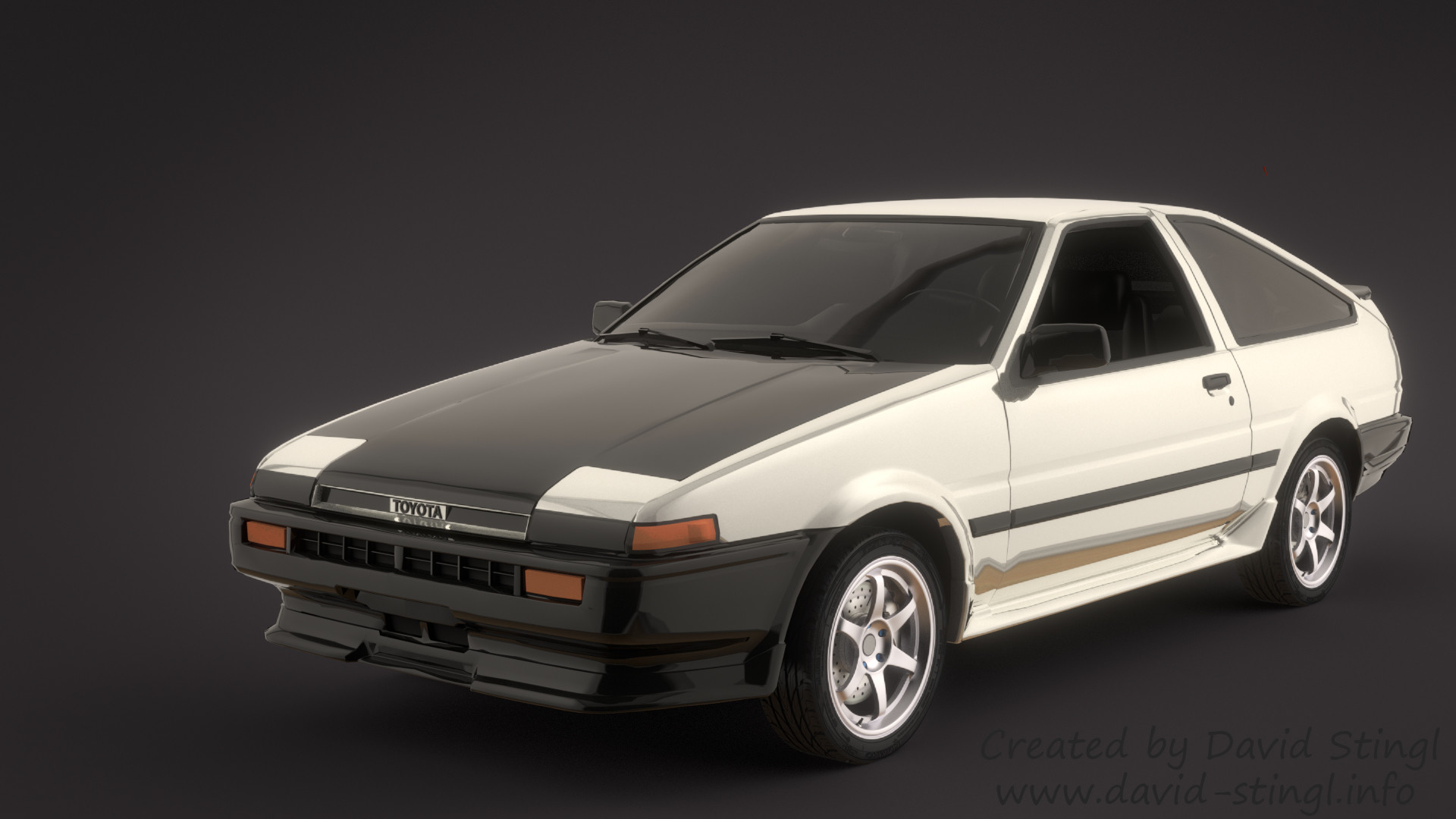 david stingl industrial designer 3d artist toyota trueno ae86 eight six. Black Bedroom Furniture Sets. Home Design Ideas