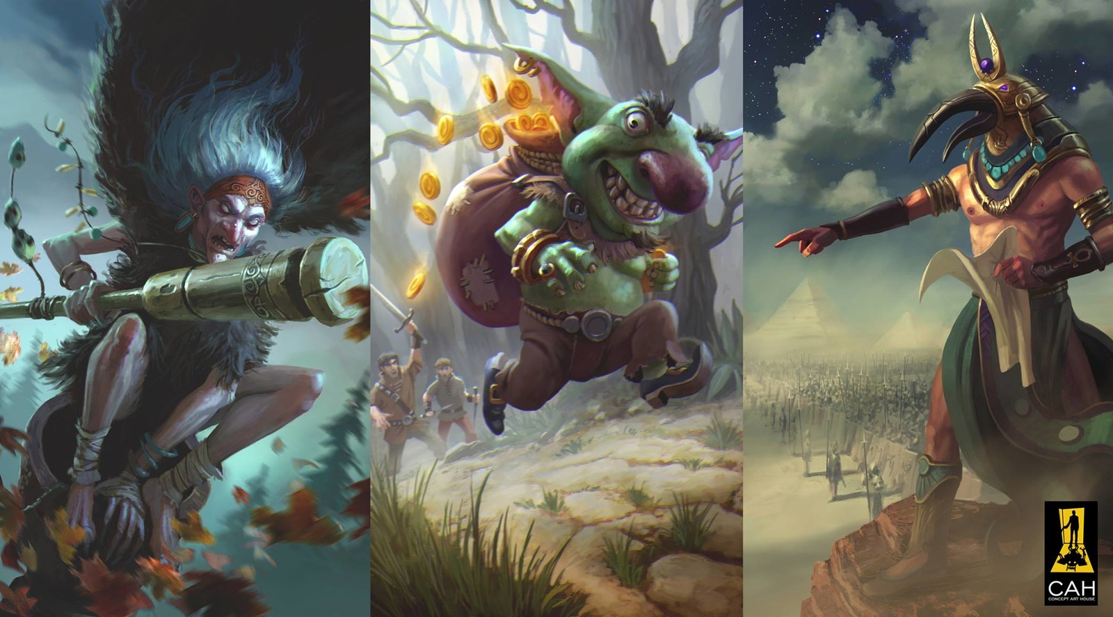 Card illustrations  for Concept Art House done awhile ago