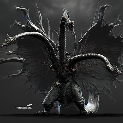 Dope pope zshin ghidorah concept development 1 by dp