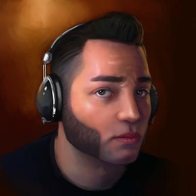 James mosingo self portrait paint 01e