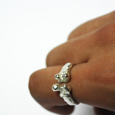 Silver Femur Ring