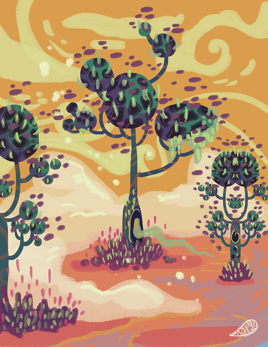 blooming, color palette study