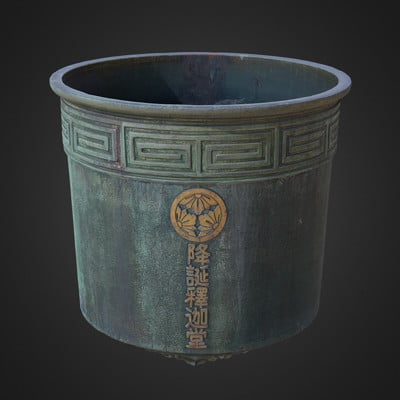 Vlx kuzmin rain barrel from buddhist temple