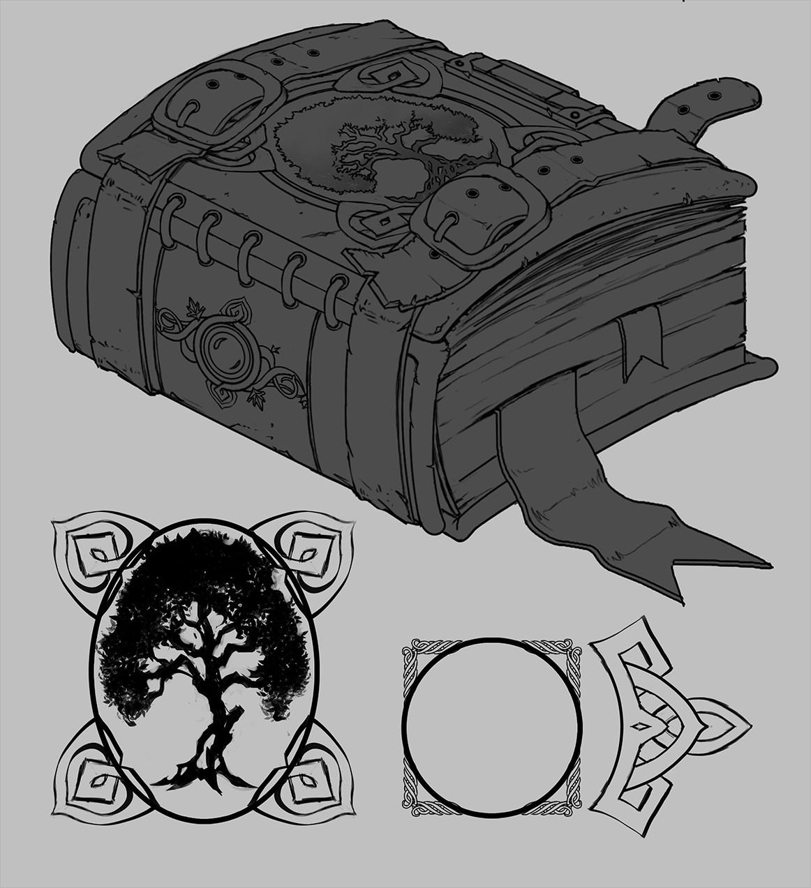 Yaron granot spellbook lineart