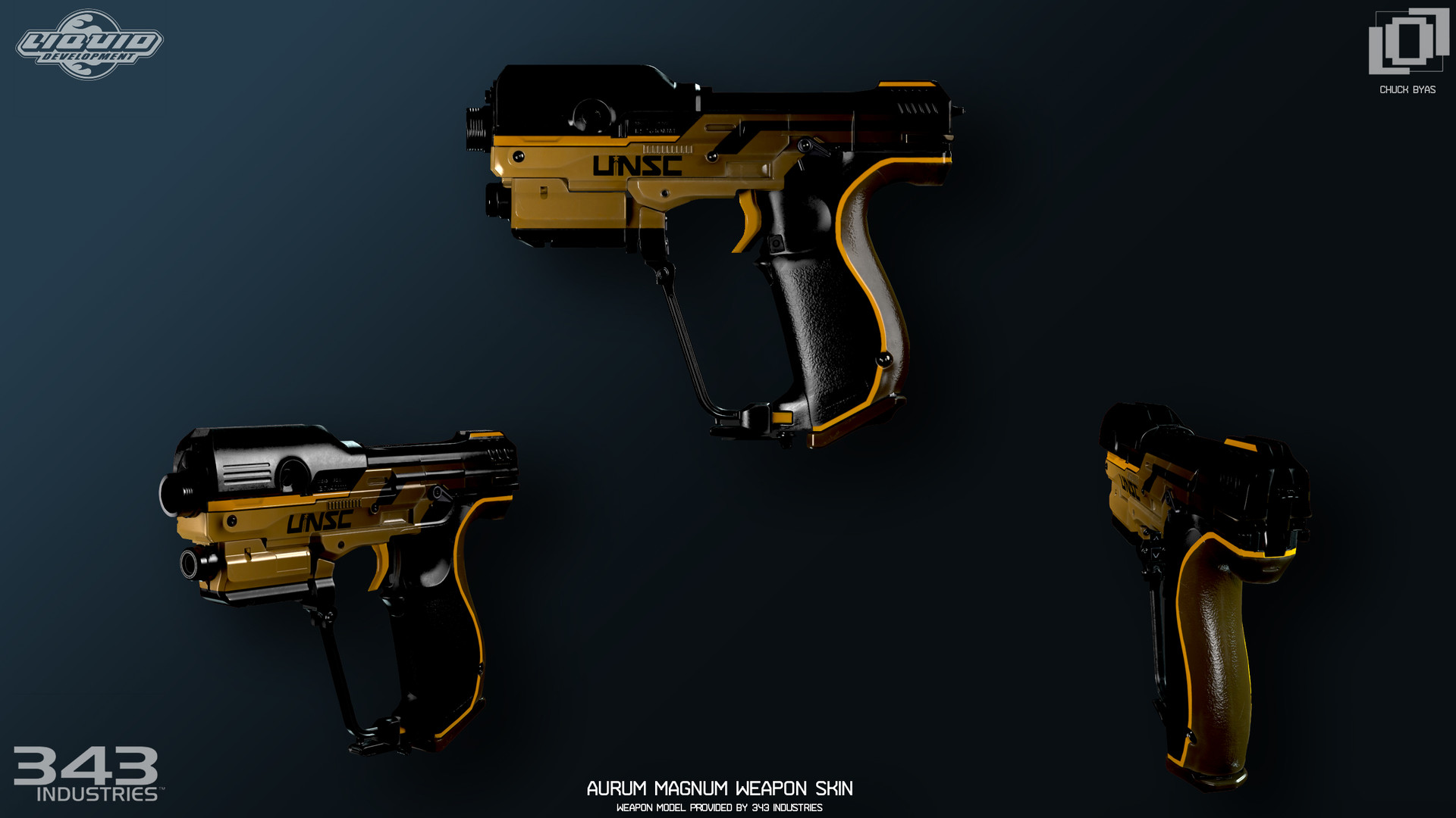 Chuck Byas - Aurum Theme Concepts and Weapon Skins