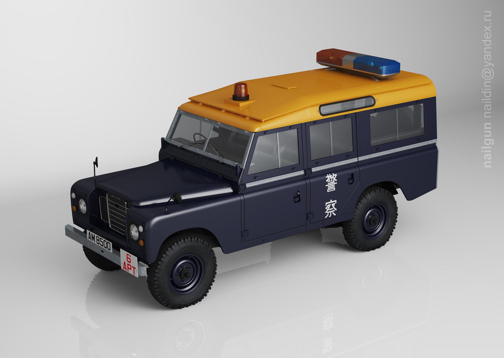 Nail khusnutdinov pwc 009 000 land rover 109 police marine miniature