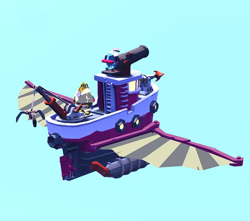 ArtStation - Brave Odyssea - Glider Wings Power-up, Nick Carver