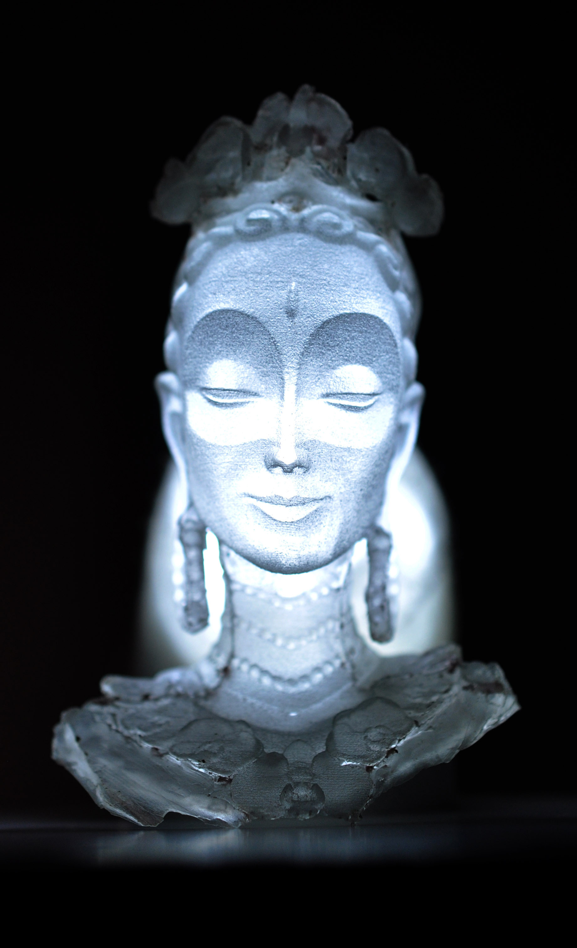 Back lit Resin cast of 3D print