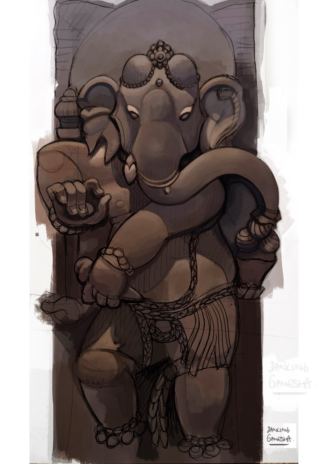 Bradley morgan johnson dancing ganesha paintover