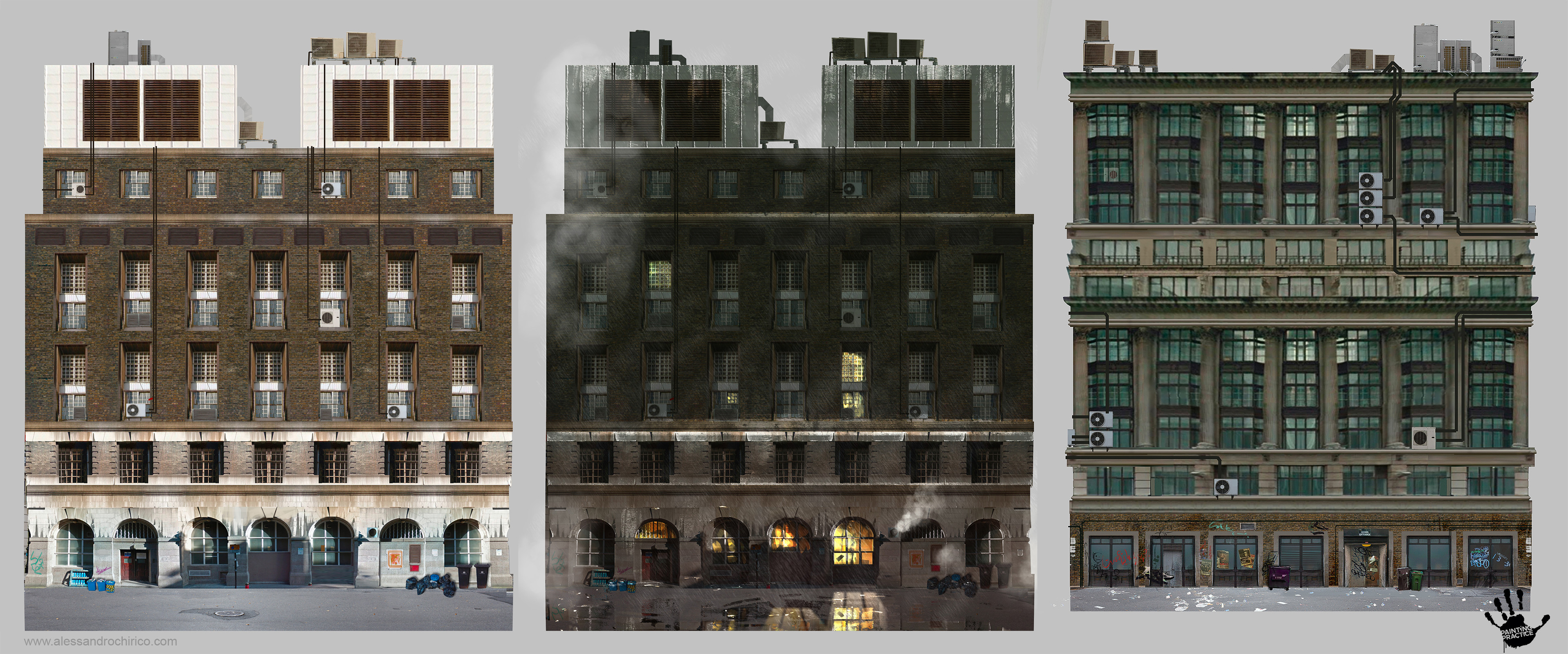 Exploration for some of the buildings of the city