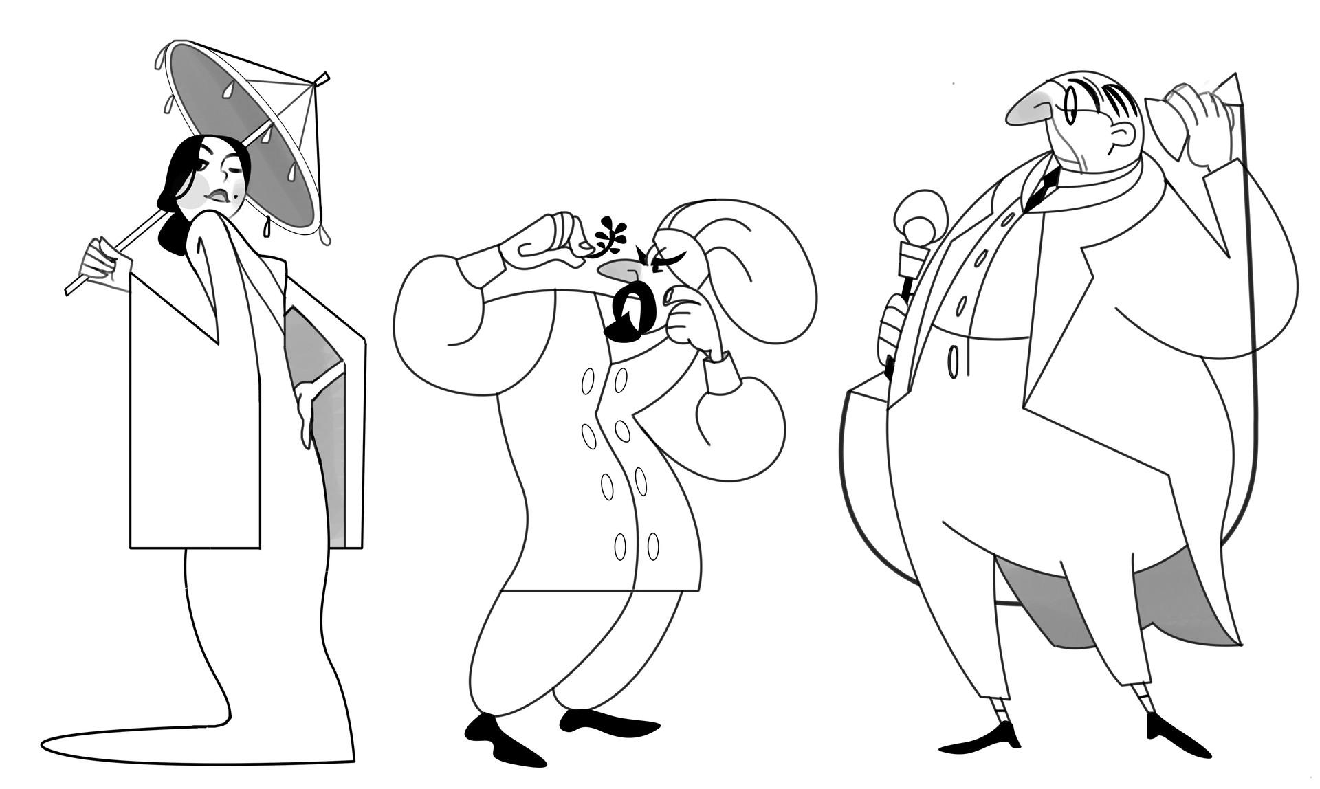 Kaylie benner character design lineup
