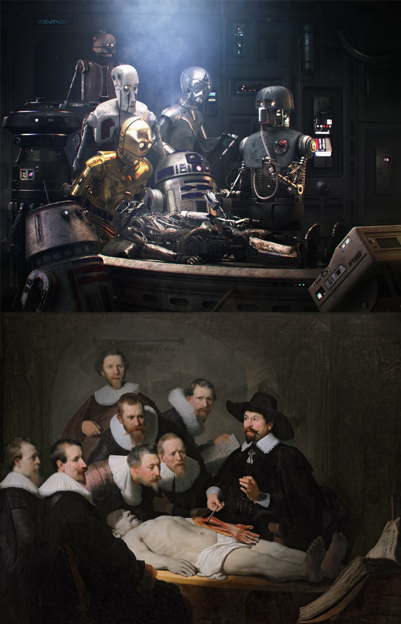 Rembrandt's original painting: The Anatomy Lesson of Dr. Nicolaes Tulp