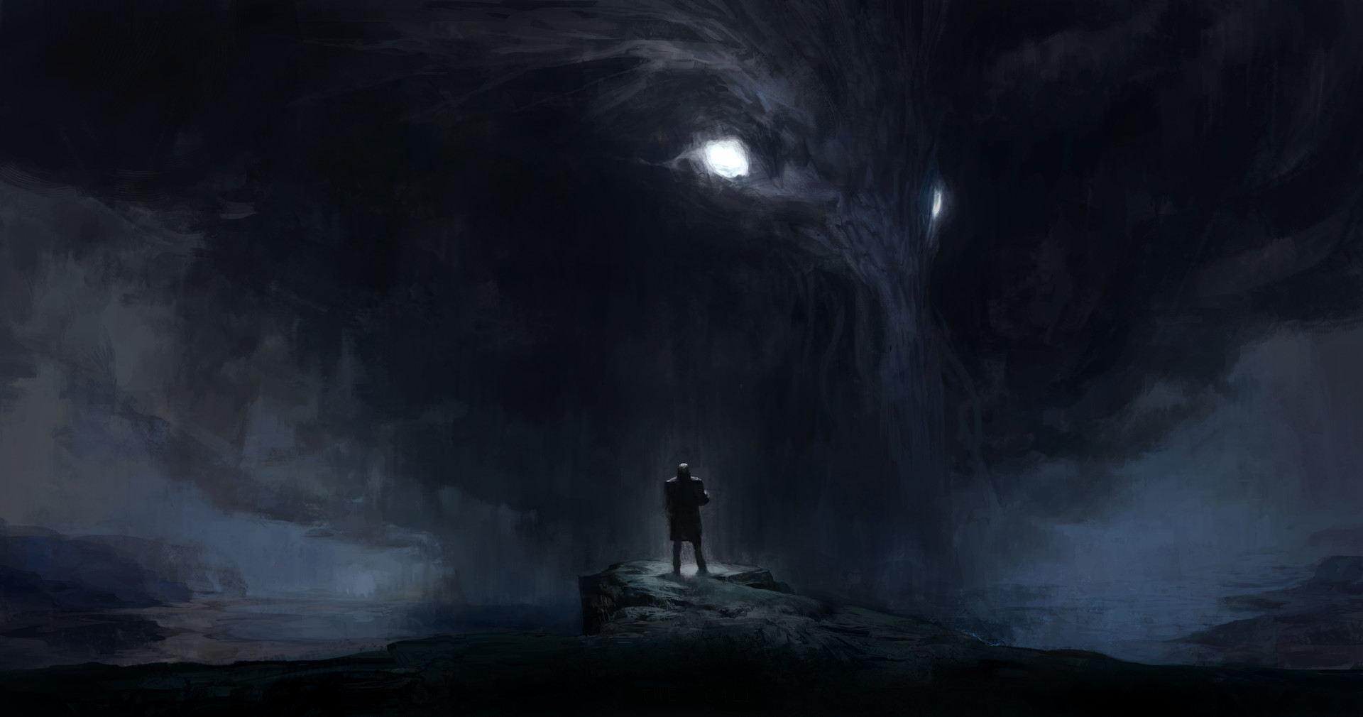 "Lovecraft fan art ""The call"""