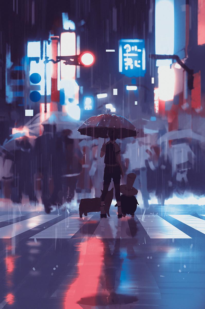 Atey ghailan neon rain by snatti89 db1pohf