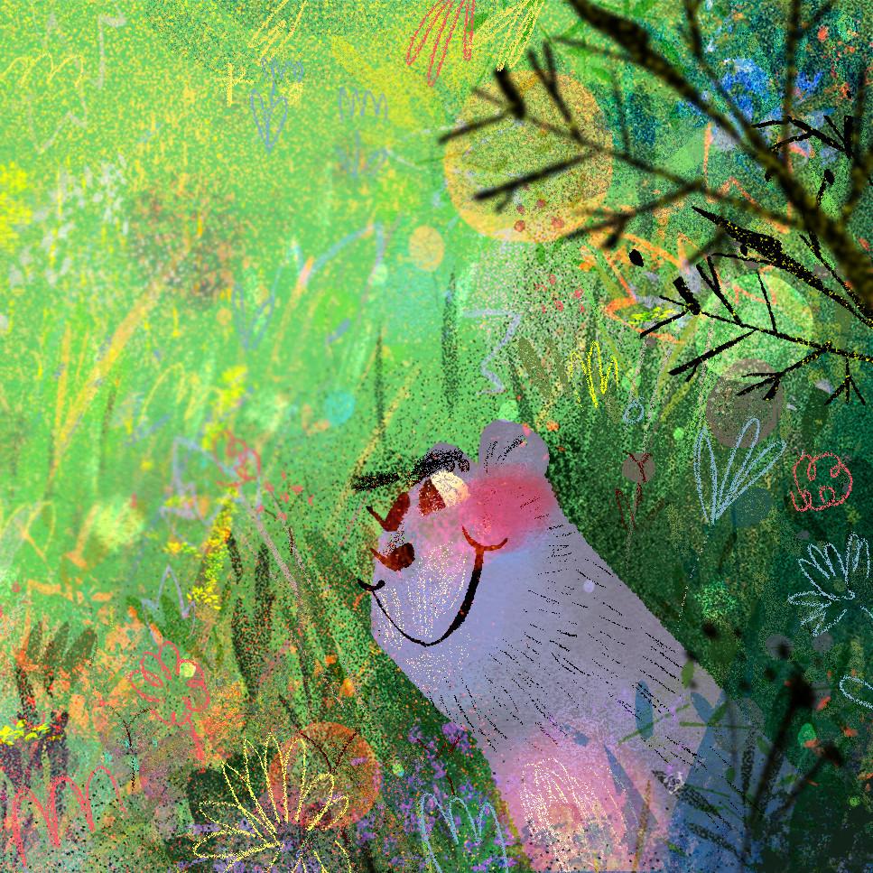 Anais marmonier spring illustration anais marmonier disney character designer illustrator naive chil book cat