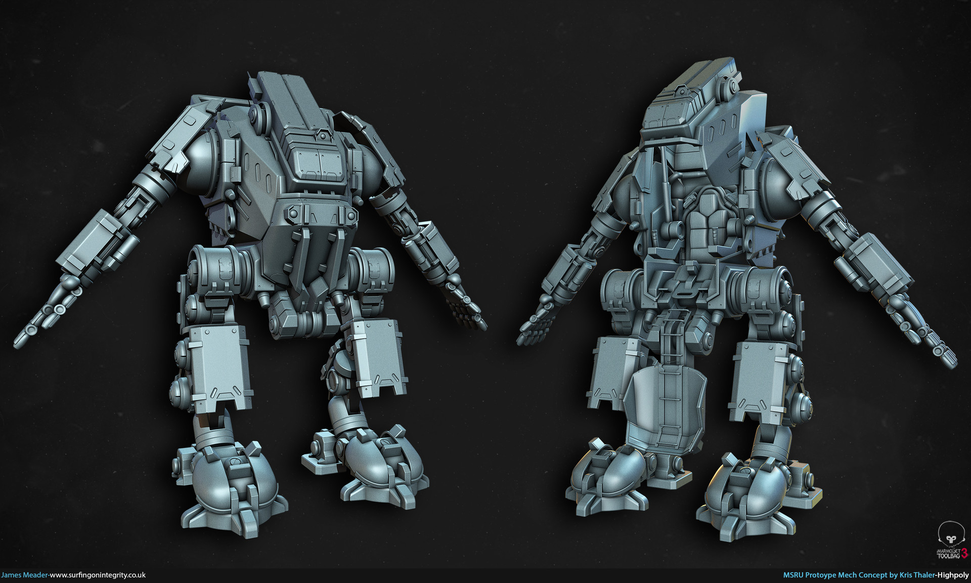 James meader kris thaler mech highpoly