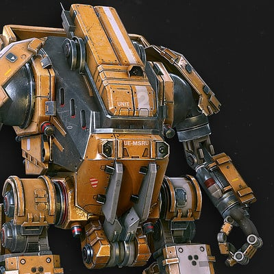James meader kris thaler mech lowpoly
