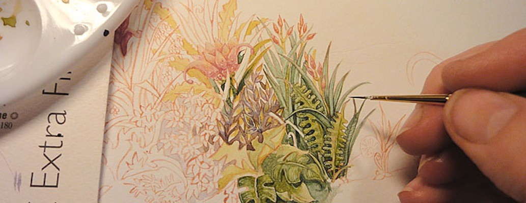 Watercolour plants