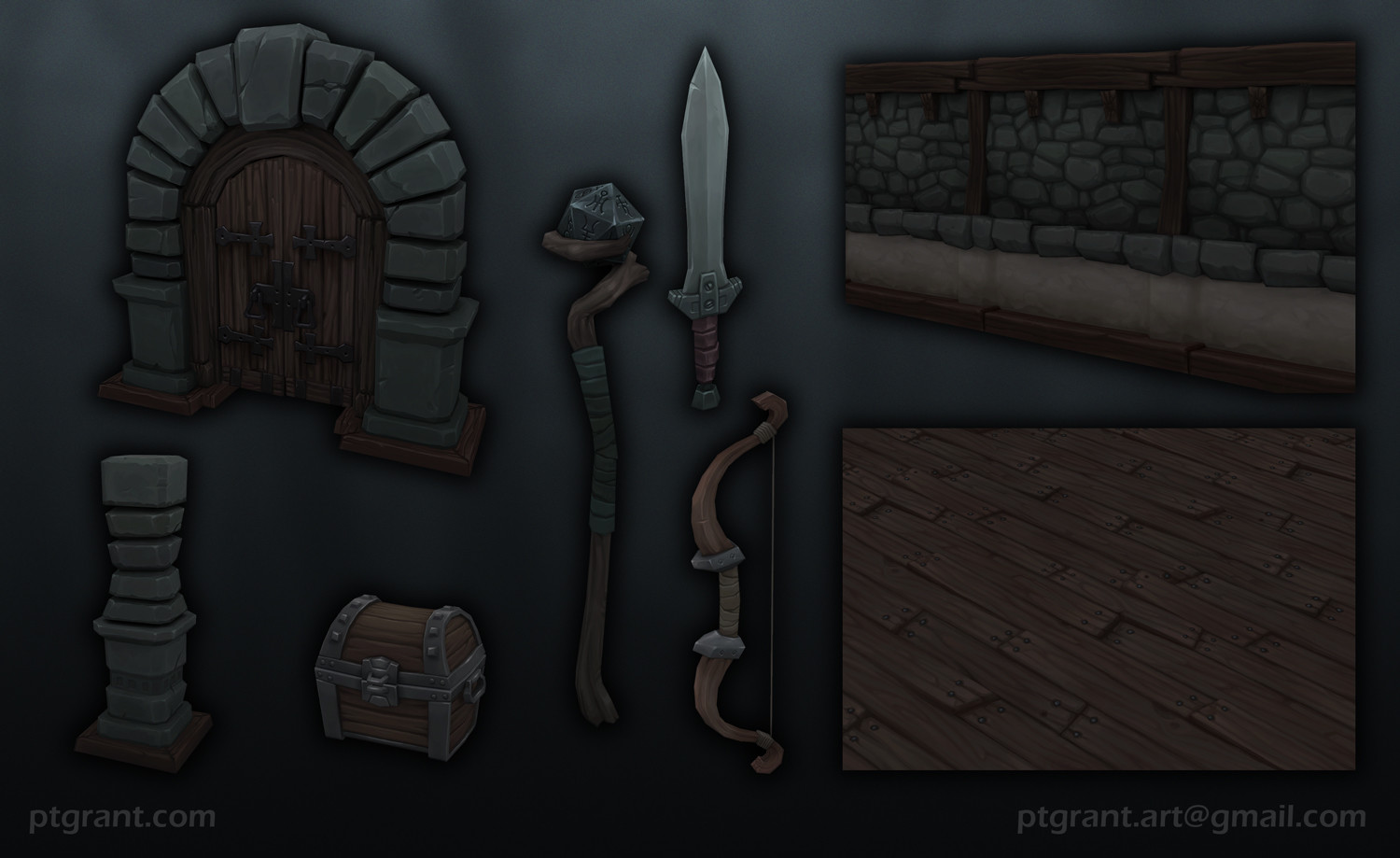 Flat shaded components/props