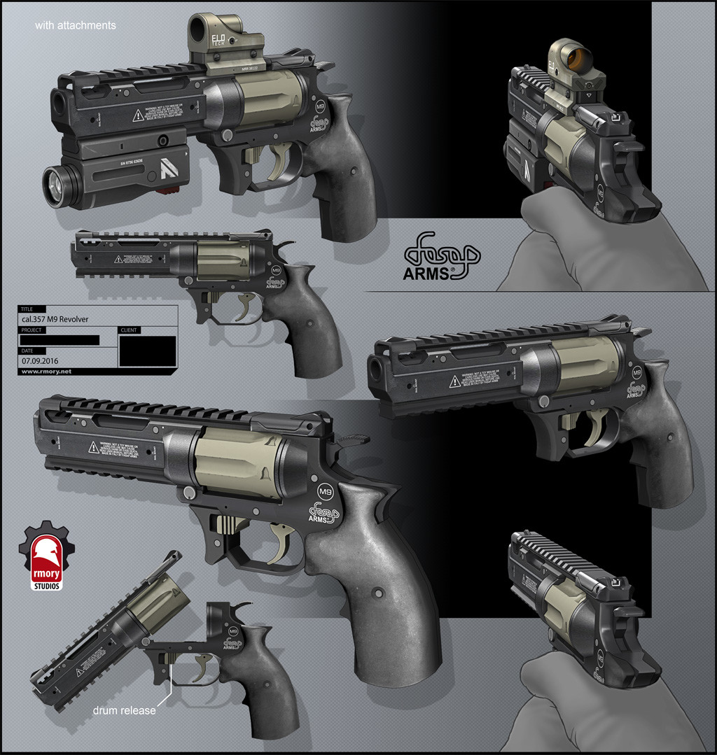 Revolver .357 by rmory studios