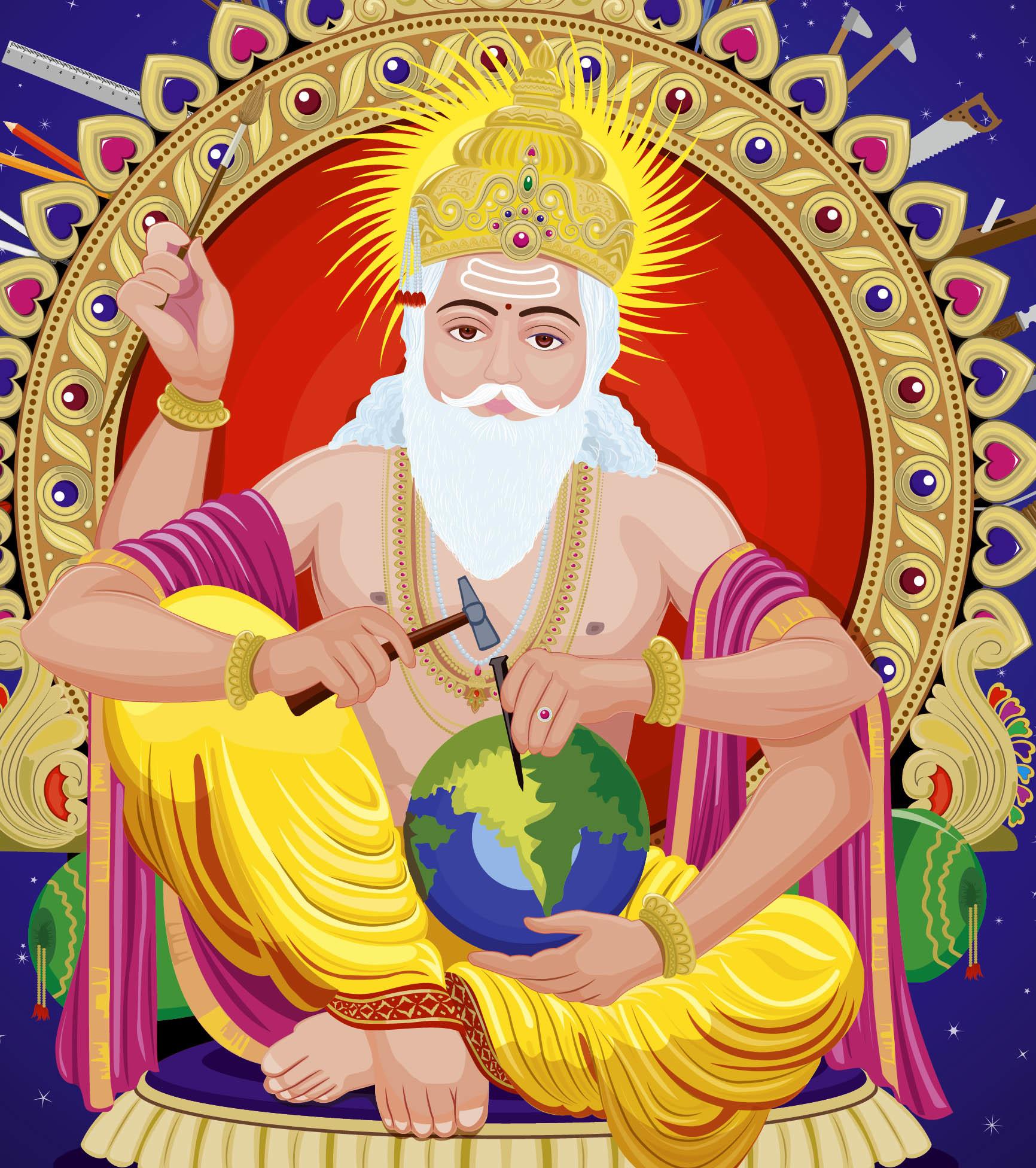 Artstation Lord Vishwakarma Rajesh R Sawant