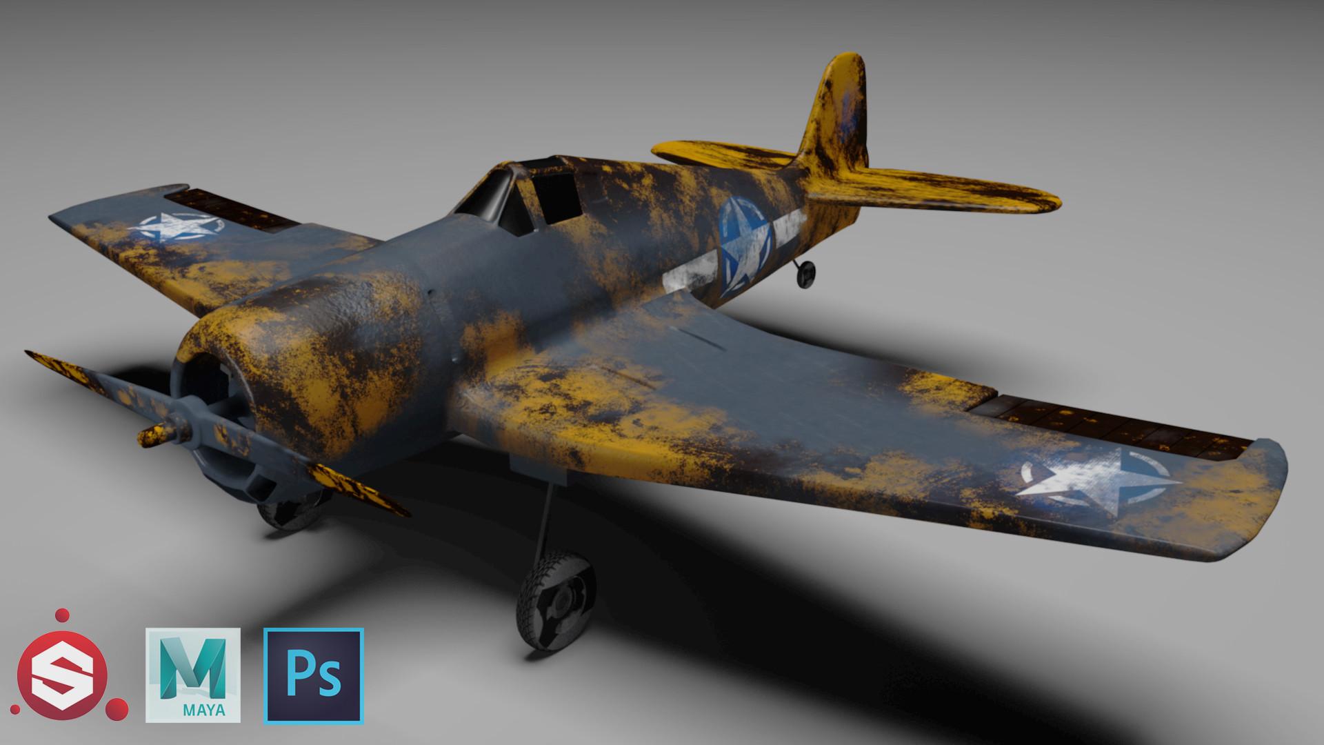 Iván Mora - Hellcat plane 3d model