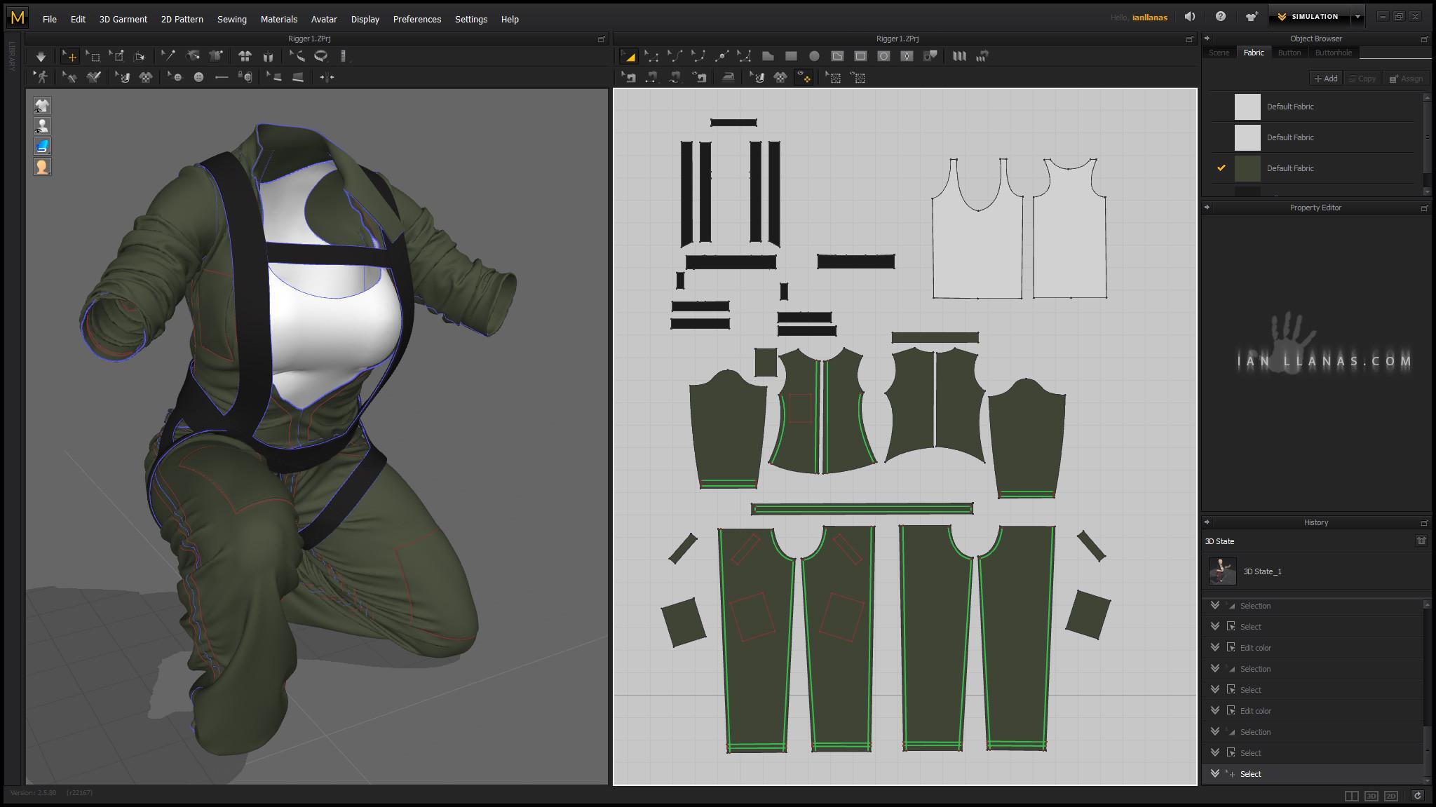 Marvelous Designer layout