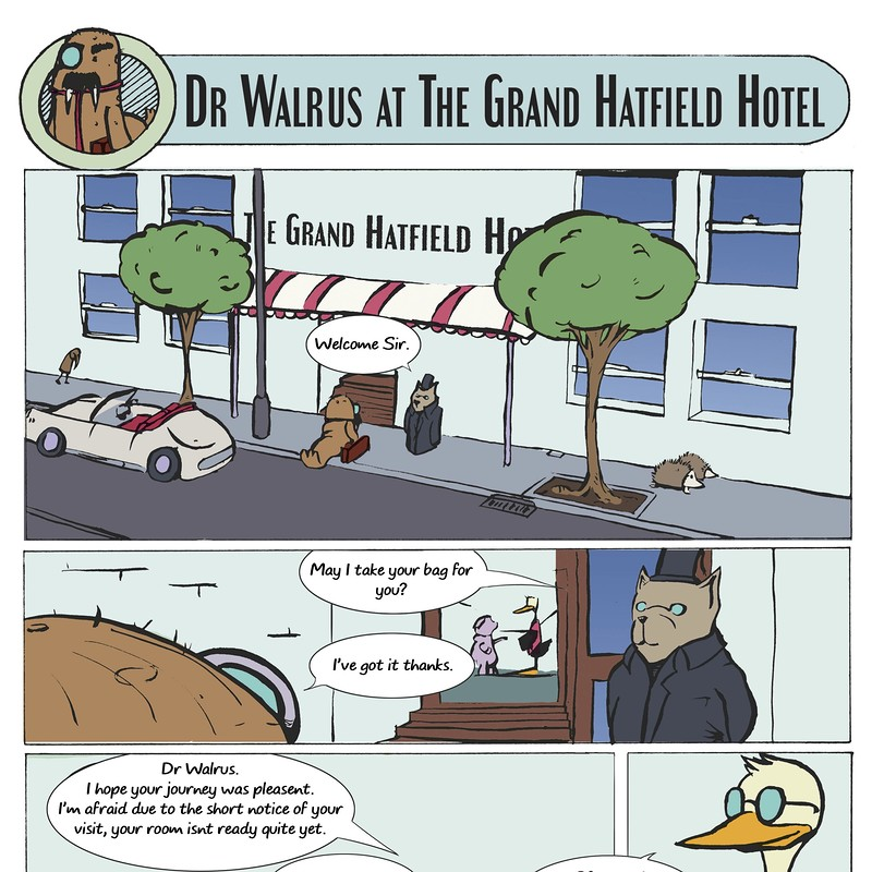 Dr.Walrus at the Grand Hatfield Hotel
