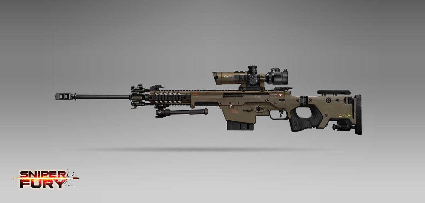 Alex ichim sniper rifle concept
