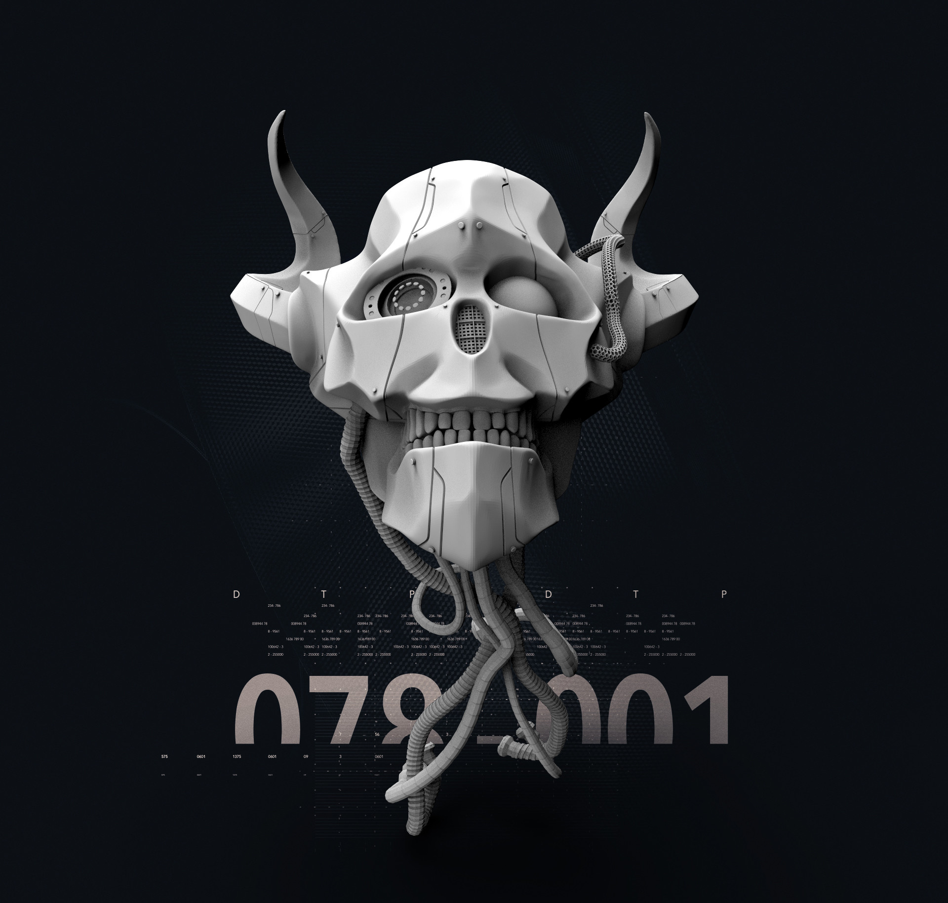 Ry cloze skull robot333