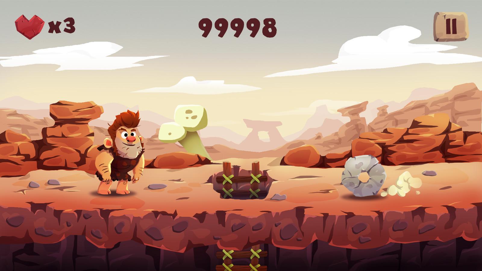 Pitfall Recreation - Gameplay Screen