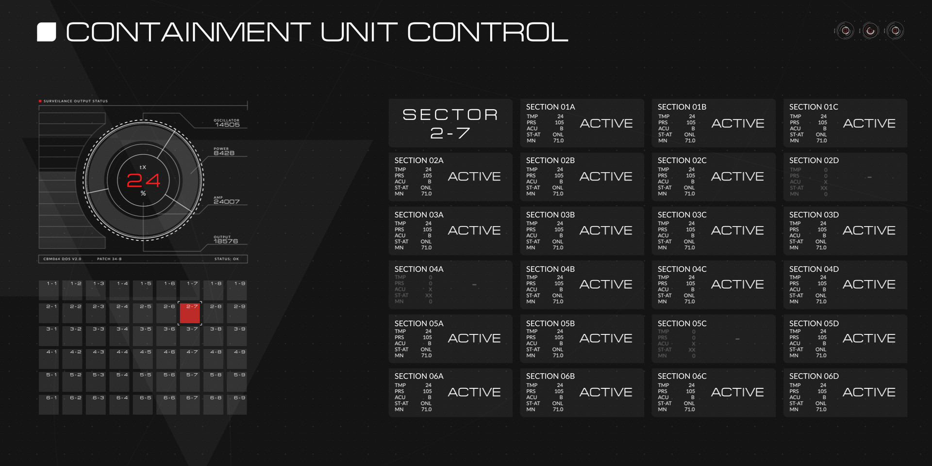 Prisoner X - Containment Unit Control