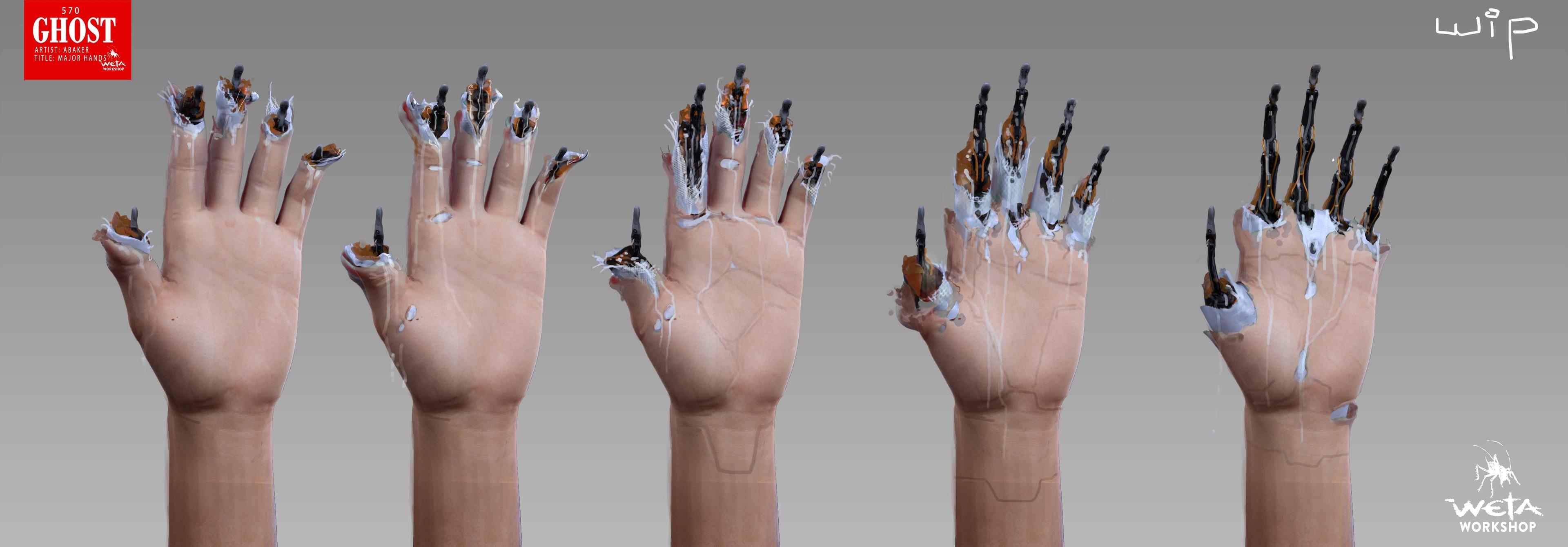 Major Hand Breakdown - Artist: Andrew Baker