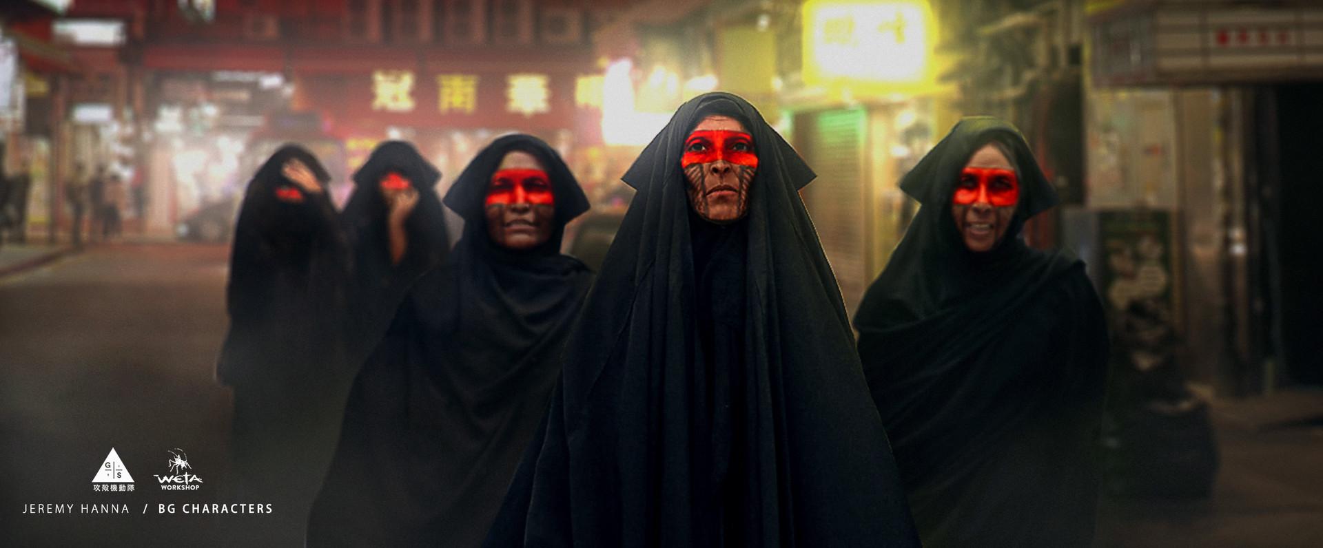 Weta workshop design studio bg characters red tribal stripe b jh repaint faces for book