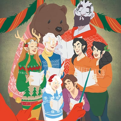Joana carvalho criticalrole christmas group