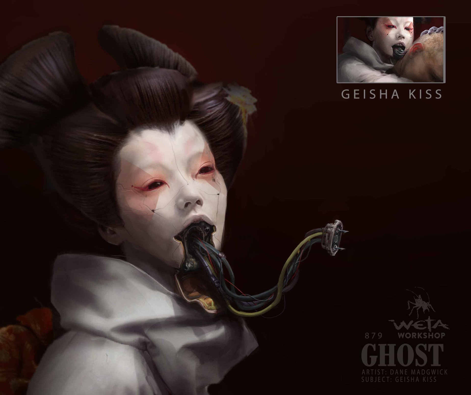 Weta workshop design studio 0879 gits geisha skull hacking 1 dm