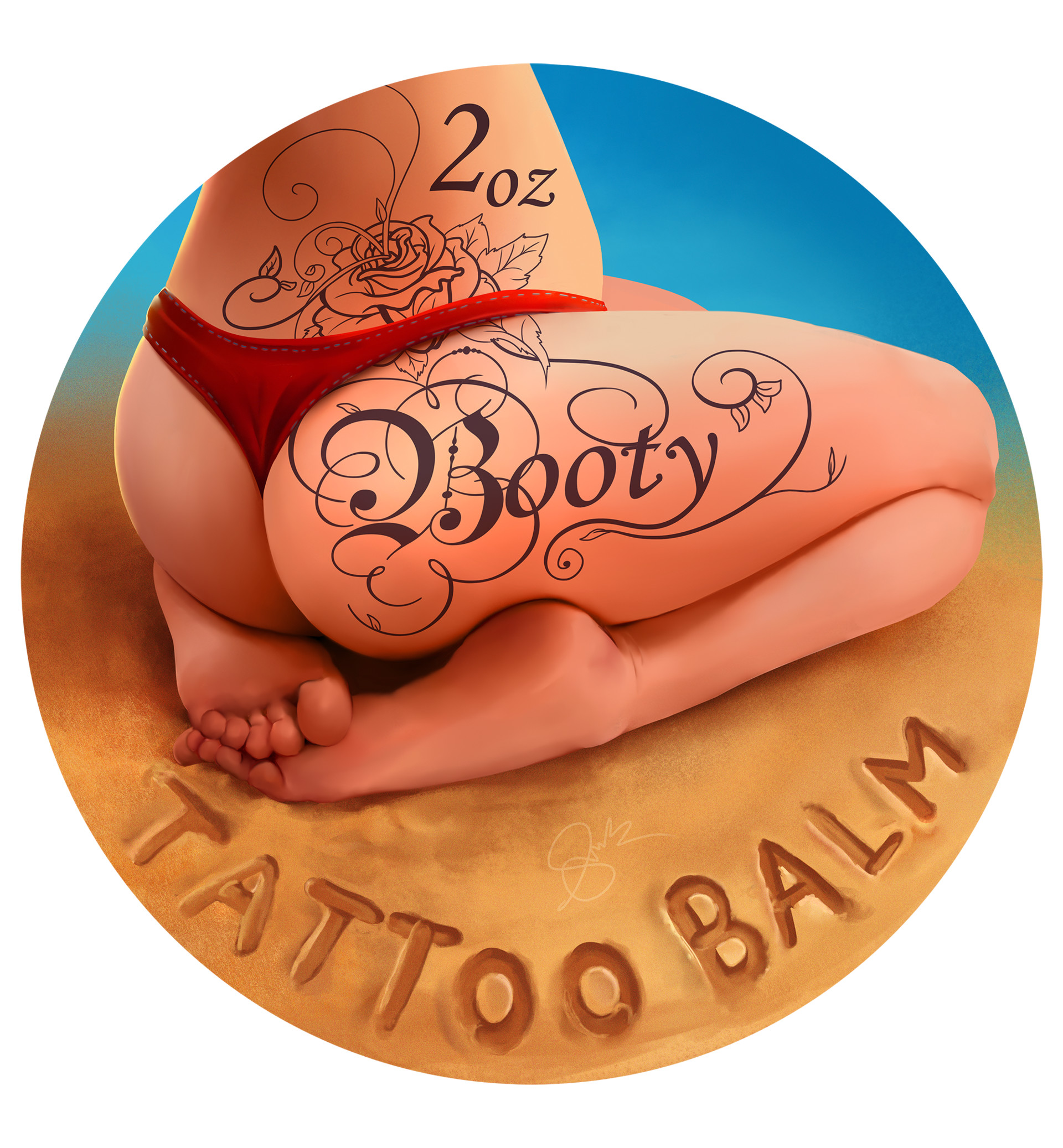 Shellz art booty tattoo balm smaller