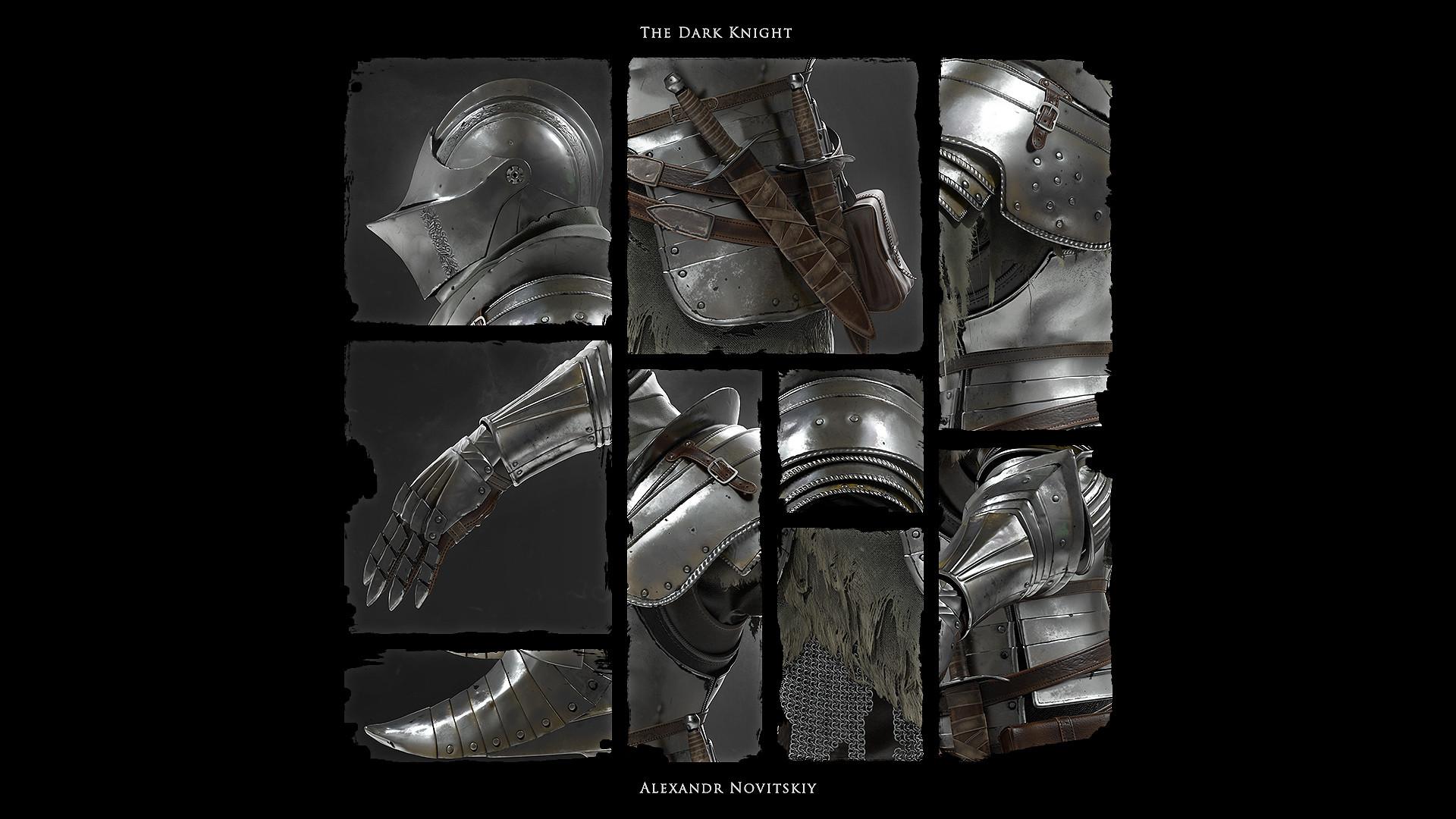 Alexandr novitskiy dark knight mosaic
