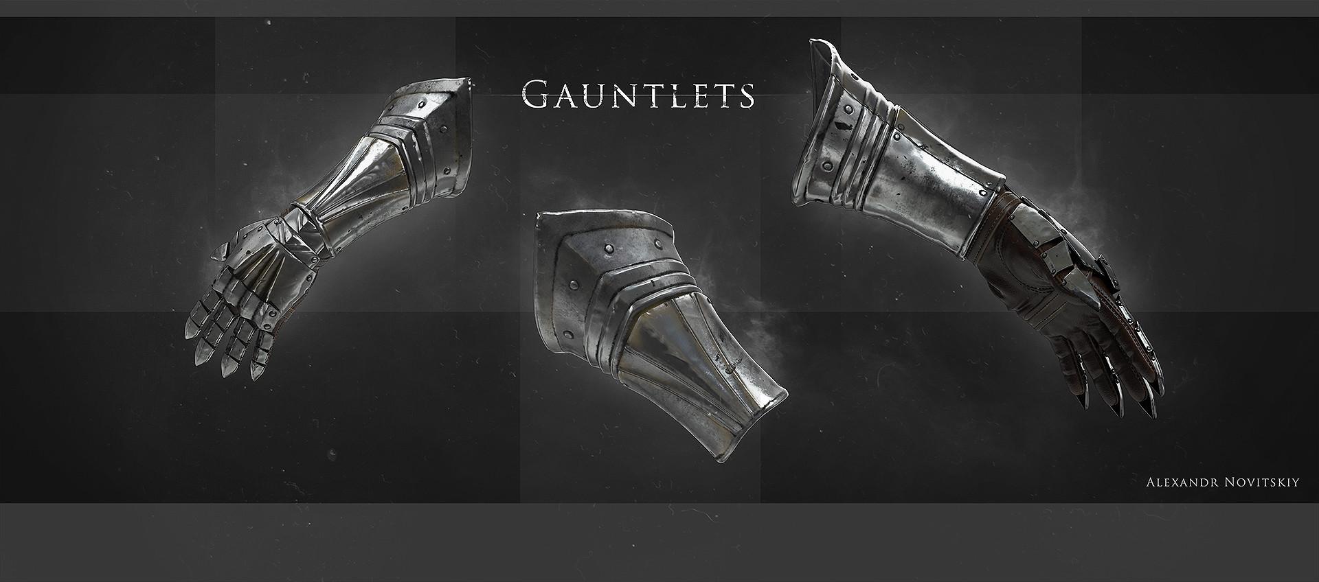 Alexandr novitskiy dark knight gauntlets